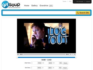Tela de edição do GIFsoup
