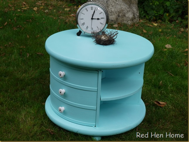 Red Hen Home Round Aqua Table 3
