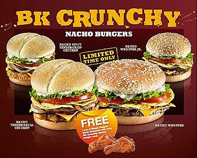 Burger King Crunchy Nacho Burgers