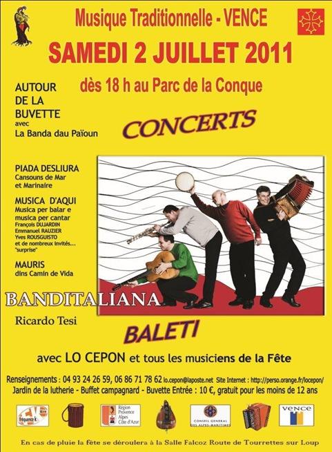 affiche La Conque 2011