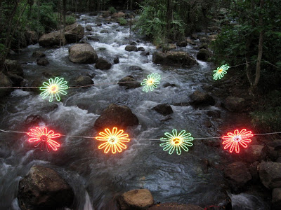 some cool Christmas lights in Parque El Gallineral