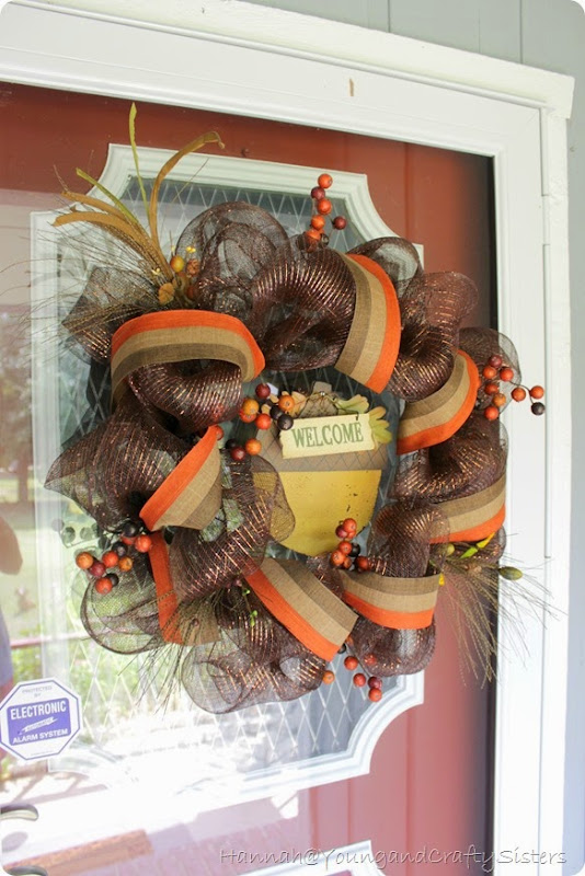 Fall deco mesh wreath 3