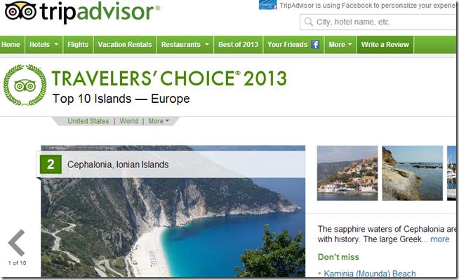 Tripadvisor: 2ο καλύτερο νησί στην Ευρώπη η Κεφαλονιά