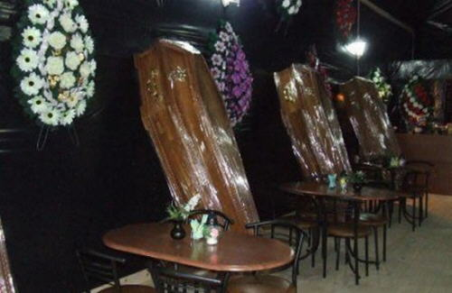The Coffin Bar in Ukrainian town of Truskavets