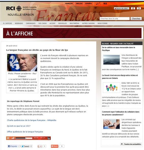 reportatge de RCI sus la lei 101