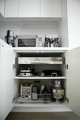 Appliance Central.  All of my small appliances are grouped in one area for easy access.