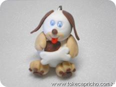 Cachorrinho malhado branco
