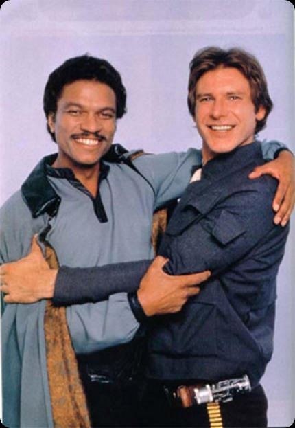 han solo lando calrissian friends off screen behind the scenes star wars iv