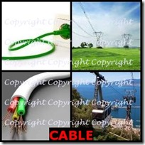 CABLE- 4 Pics 1 Word Answers 3 Letters