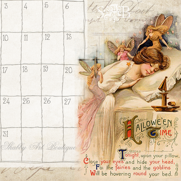 Shabby Art Boutique desk calendar 3
