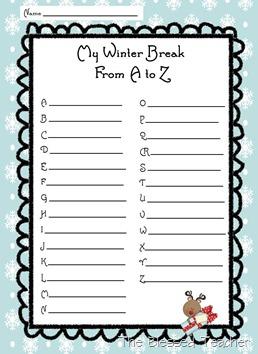 Winter Break A to Z