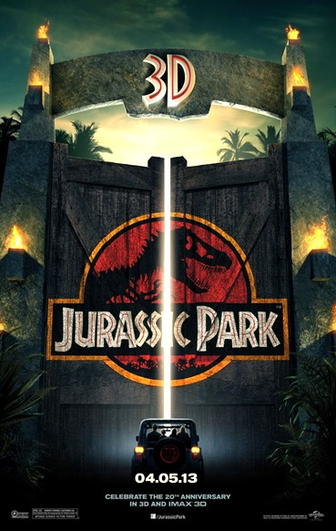 Poster oficial de Jurassic Park 3D