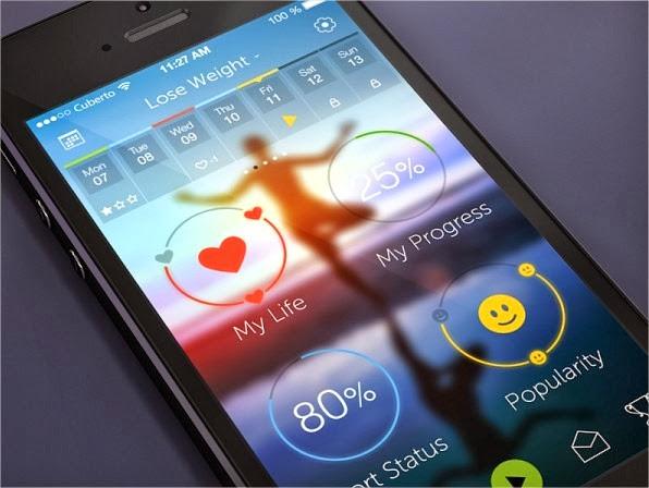 19 increíbles interfaces de aplicaciones móviles hechas para iOS 7 1
