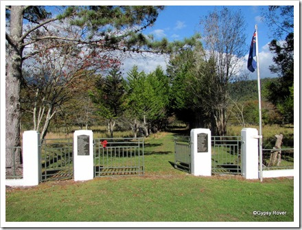 Seddonville Memorial Gates in the middle of nowhere.