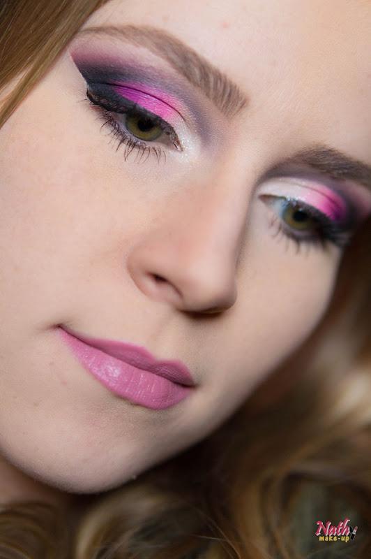 maquiagem degradê rosa