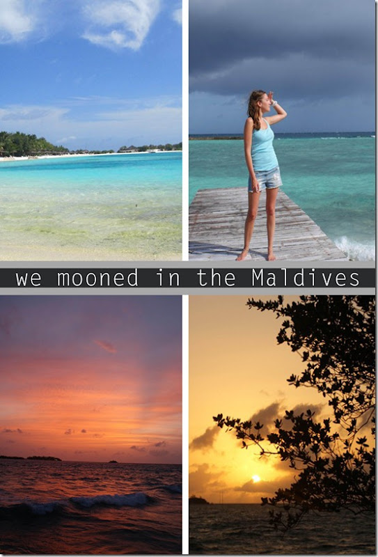 We mooned in the Maldives