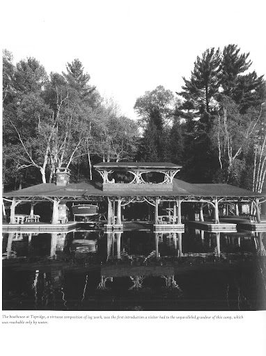 An expansive boathouse. This family must have spent a lot of time on the water. Boathouse at Topridge. (