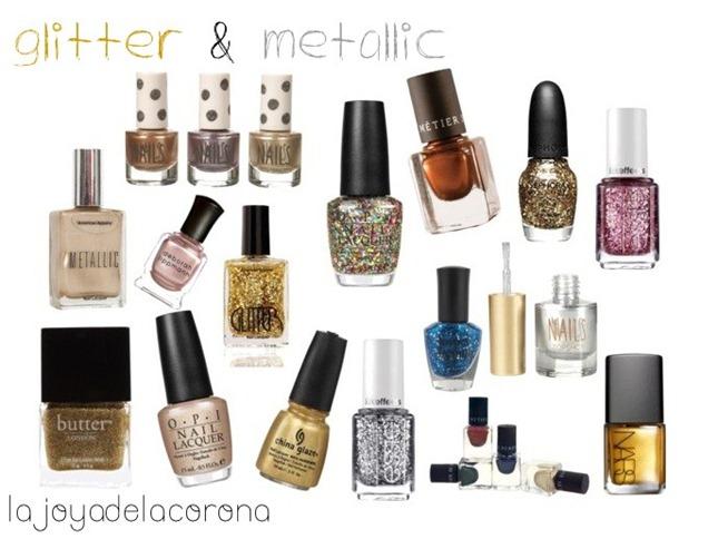 metallic & glitter