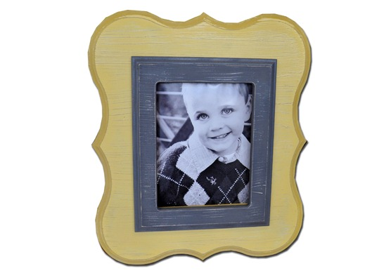 Yellow Scallop Frame