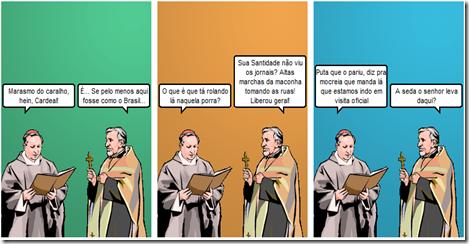 Witty Comics   O papa desbocado e a marcha da maconha
