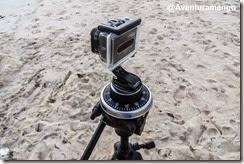 GoPro com temporizador montada no tripé