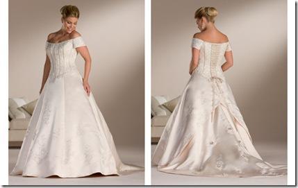 hermosos vestido para novias tallas extras corto y sencillo 2013