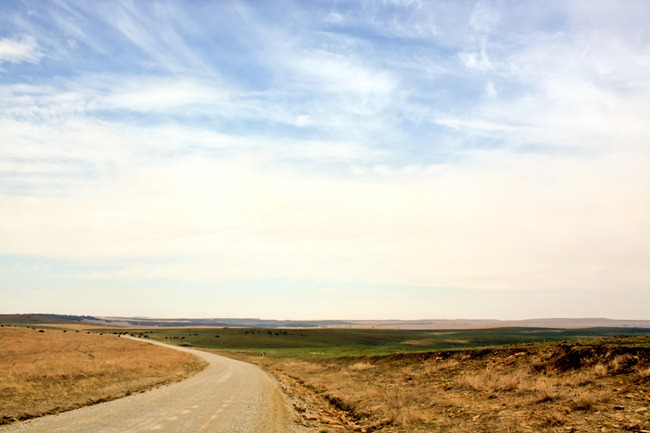 Big sky country at the Tallgrass Prairie Preserve.