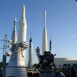 rocket park in Cape Canaveral, Florida, United States