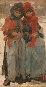 RIJKS: Isaac Israels: Two Young Women in the Snow 1894