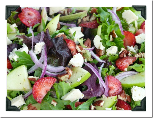 upclose staw salad