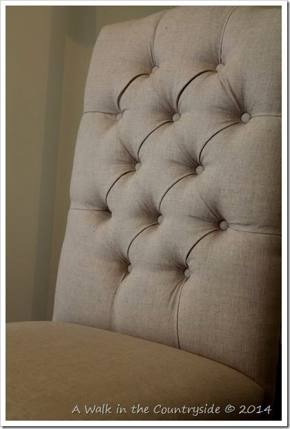 tufted back of overstock chair