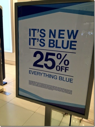 It's New It's Blue: 25% off everything blue