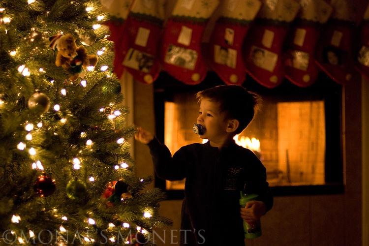 Scott by Christmas tree blog