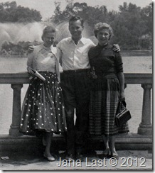 1955 Visit to Mexico City Close Up View of Willis Webster Debs Webster and Carlota Webster Guerrero