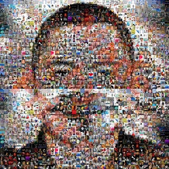 Mosaic picture made