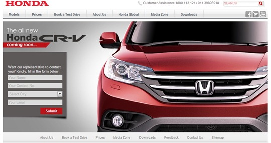 Honda started Teasing New CRV on their Website   Manual Transmission