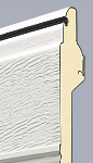 Cross section of sectional door panel - standard 20mm insulation