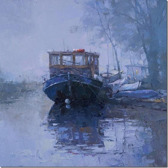 Fog in canal