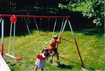 swing set  July 2004