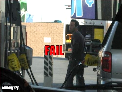 Epic Fail Gas Station Fail