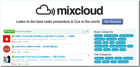 MixCloud : Listen Music Online in Different ways