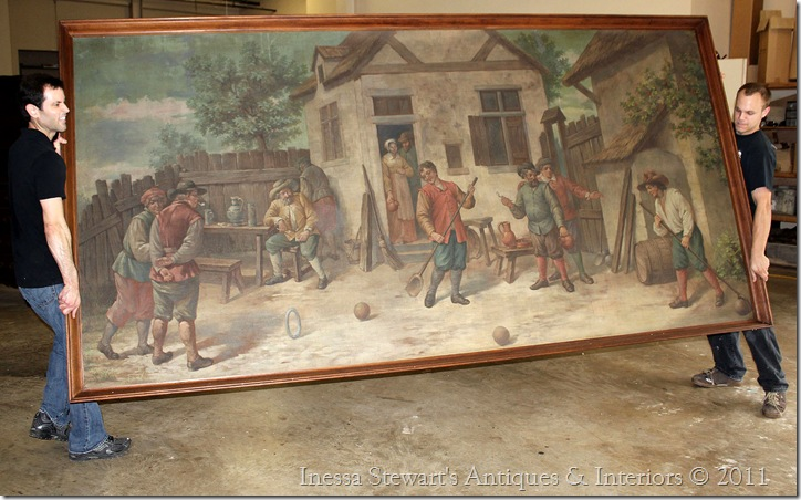 Grand French Antique Painting