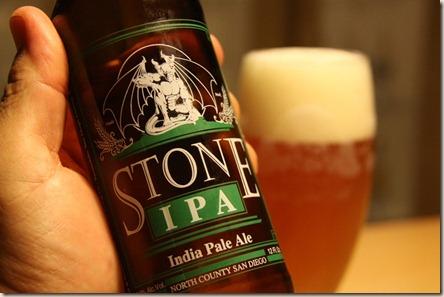 Stone IPA inhand