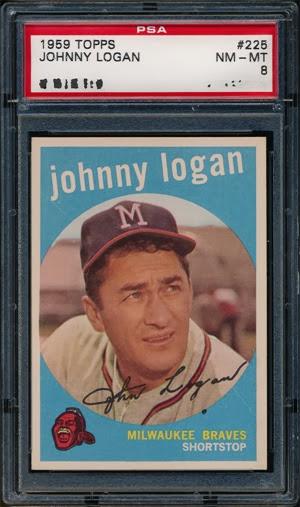 1959 Topps 225 Johnny Logan