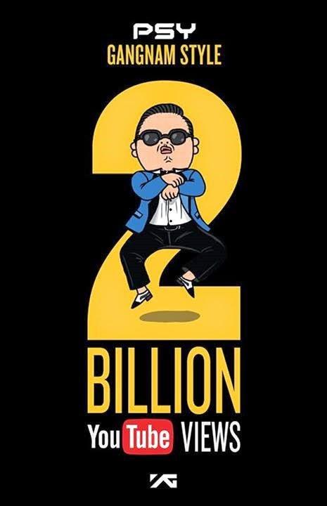 Gangnam style 2billion views
