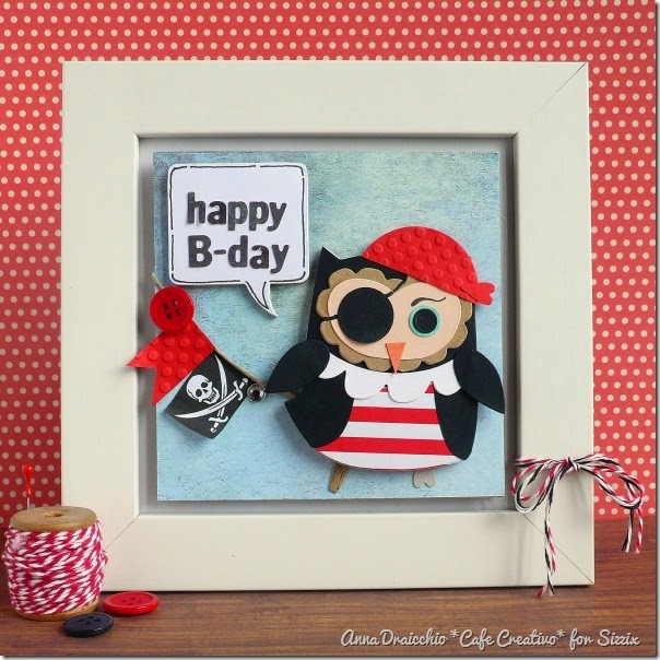 cafe creativo - big shot sizzix - card owl pirate (1)