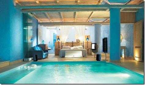 Hotal Pool of Blue Bedroom Design