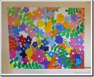 Large flowery paint picture.1
