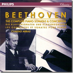 Beethoven sonatas piano Arrau