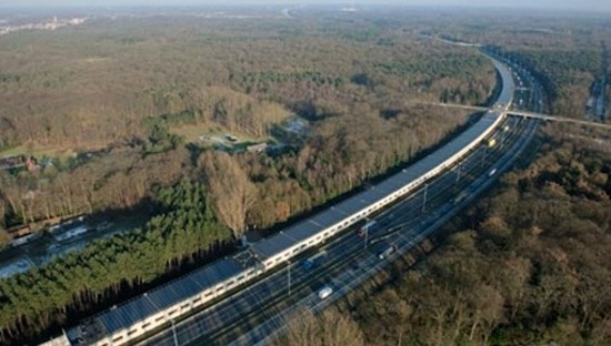 Revolutionary-solar-tunnel-powers Europe's first 'green' high-speed trains